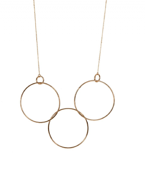 CAMELIA LARGE GOLD CIRCLE NECKLACE